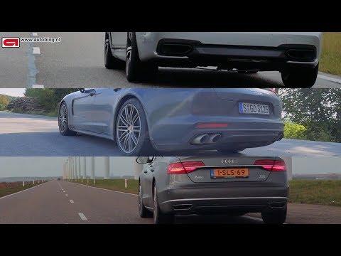Panamera vs 7-serie vs A8: welke zakenbak is sneller?
