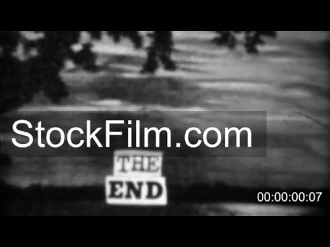 1937: Vintage homemade crafted the end closing title screen scene.