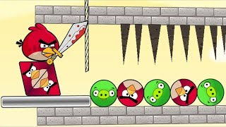 Angry Birds Pigs Out - RESCUE TRIANGLE AND ROUND BIRDS BY CUT ROPE ROUND PIGS!