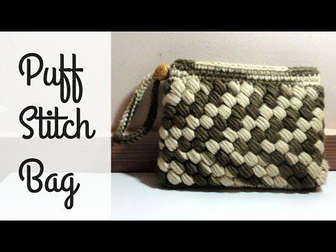 Crochet Puff Stitch purse | Crochet Bag/Purse/Wallet/Clutches Tutorial