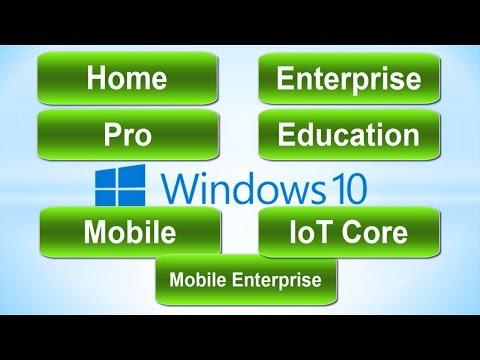Версии Windows 10: сравнение редакций
