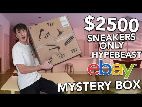 $2500 SNEAKERS ONLY EBAY HYPEBEAST MYSTERY BOX!