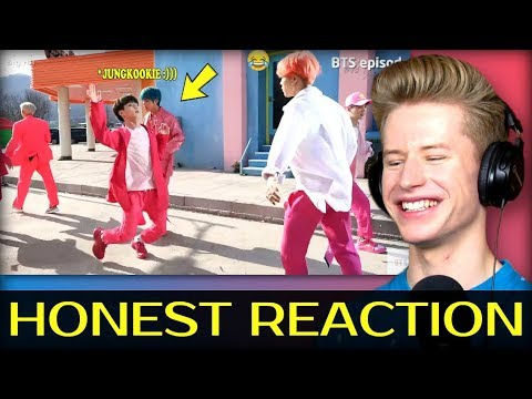 HONEST REACTION to BTS JUNGKOOK makes his hyungs laugh! :)))