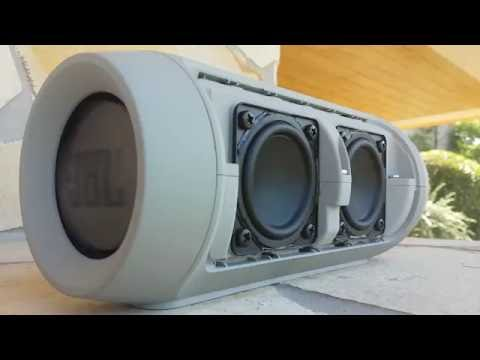 JBL Charge 2+ - Bass test (disassembled)