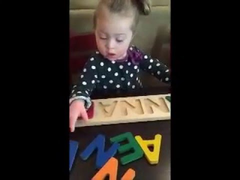 TalkTools Blog   Annabelle 2 Years 4 Months: Name Puzzle