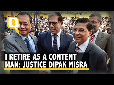 Outgoing CJI Dipak Misra 'Frankly Confesses' That He's Retiring a 'Content Man' | The Quint