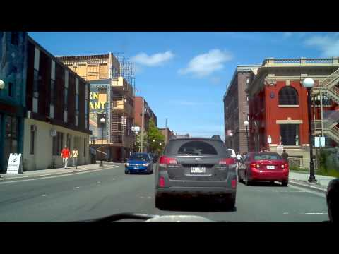 A drive through downtown St. John's, Newfoundland and Labrador