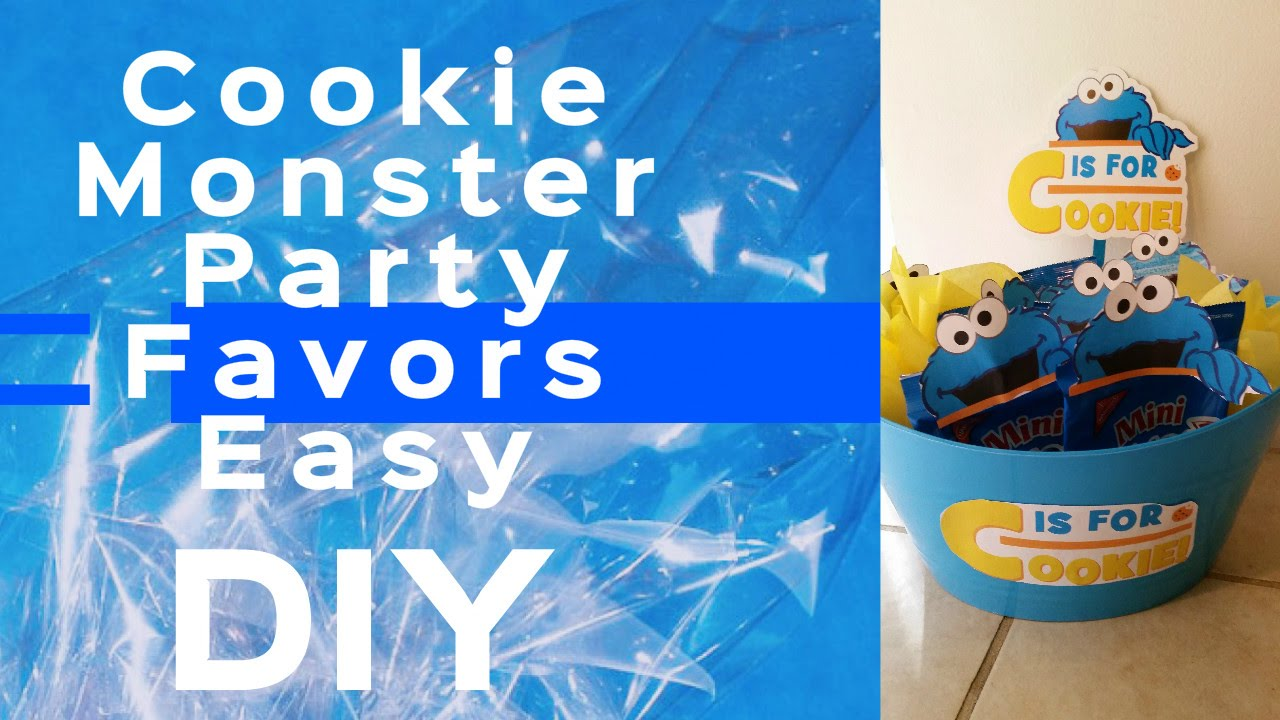 Cookie Monster Themed Party Favors DIY UNDER 15 Dollar Tree YouTube