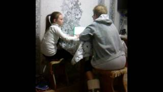 Моя. Сестра  делает. Уроки