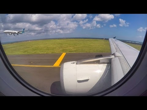 BRIGHT TAKEOFF | Indonesia Air Asia X A320 in Denpasar Bali