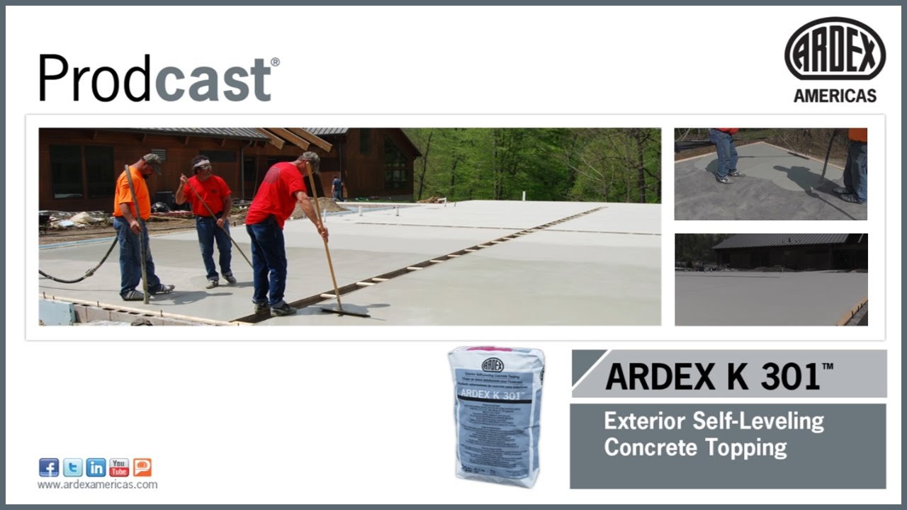 Ardex K 301 Exterior Self Leveling Concrete Topping Prodcast Youtube