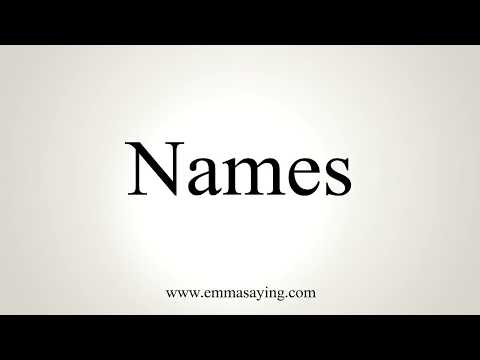 How To Pronounce Names Youtube