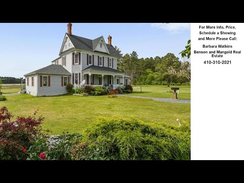 712 HILLS POINT ROAD, CAMBRIDGE, MD Presented by Barbara Watkins.