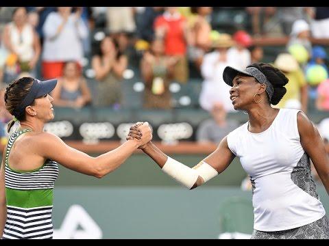 2017 BNP Paribas Open Second Round | Venus Williams v Jankovic | WTA Highlights