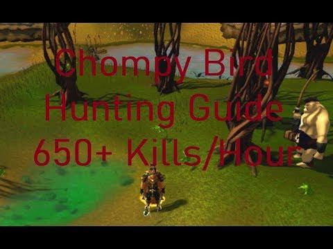 Runescape 3 Chompy Bird Hunting Guide 650+ Kills/Hour (w/o Enhancers)