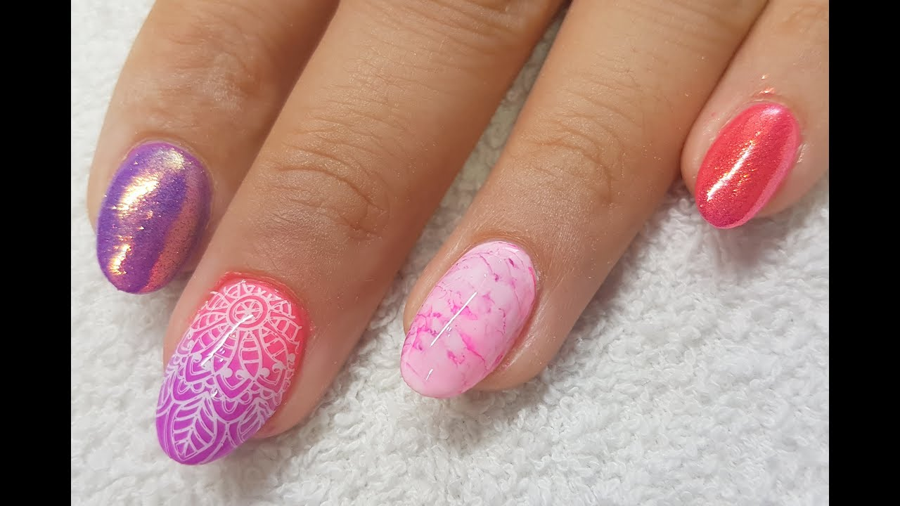 Acrylic Nails L Neon Holiday Design L Watch Me Work Youtube