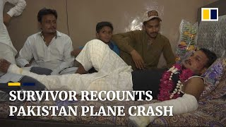 'I saw fire everywhere': survivor recounts Pakistan crash that killed 97 people