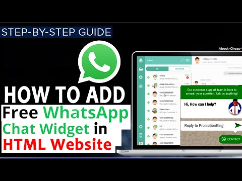 How To Add Whatsapp Live Chat Code To Your HTML Website?