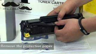 How to install HP Q2612A toner cartridge for HP Laserjet 1020 - by 123Ink.ca