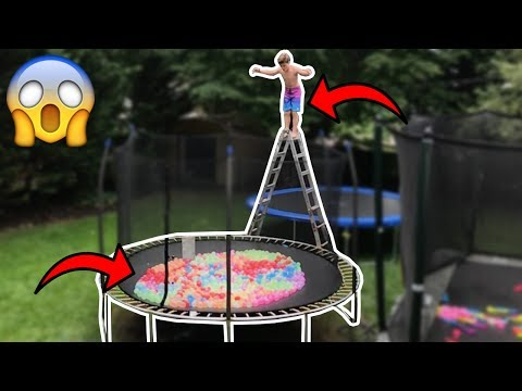 Thumbnail: TRAMPOLINE FILLED WITH 10,000 WATER BALLOONS!