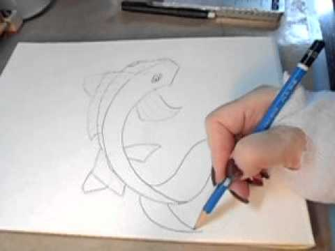 Draw A Koi Fish   Beginner Syle