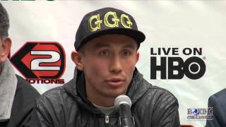 Gennady Golovkin vs. Curtis Stevens - tension was in the air for their last press conference.