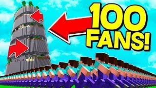 100 FANS MOD PARKOUR!? Dansk Minecraft