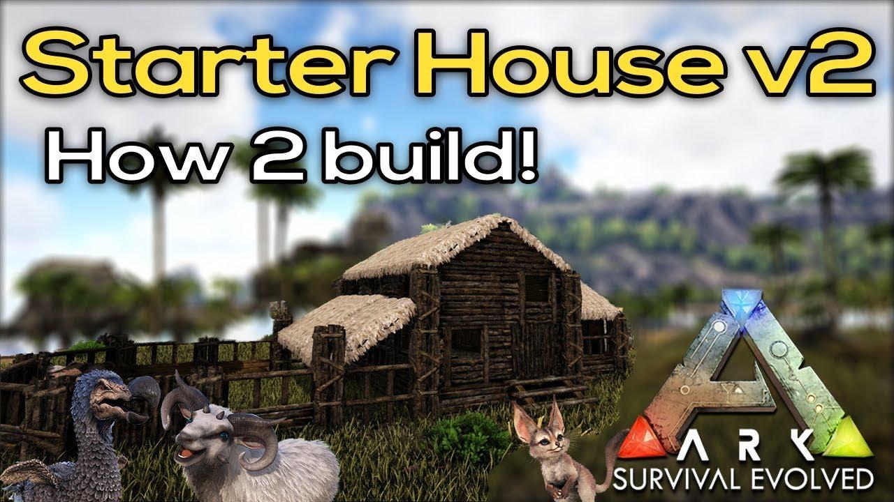 ARK | Simple thatch/wood starter house | design #2