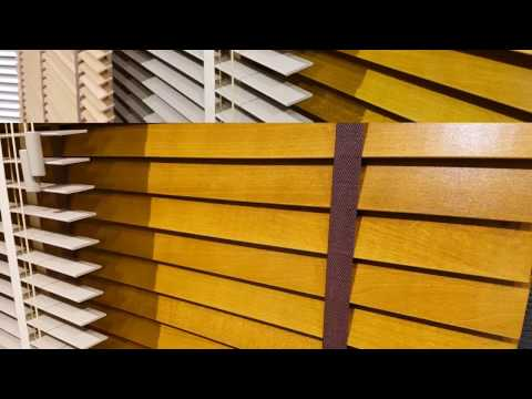 Video Dřevěné žaluzie