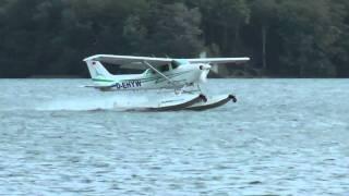 Wasserflugzeug Landung