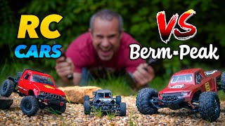 RC Cars vs Berm Peak! Can these cheap RC's make it to the top?