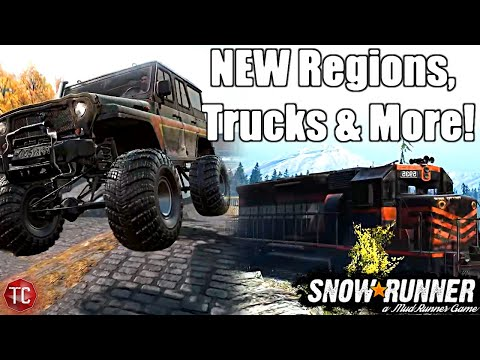 SnowRunner: HUGE NEW UPDATE! ALL YEAR 2 DLC, NEW REGIONS & VEHICLES CONFIRMED & PHASE 5 RELEASE DATE |