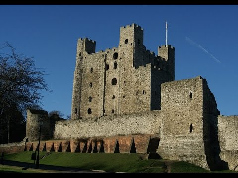 Sights of Rochester City Kent UK, Inc., Castle Cathedral, High Street, Medway & Guildhall Museum