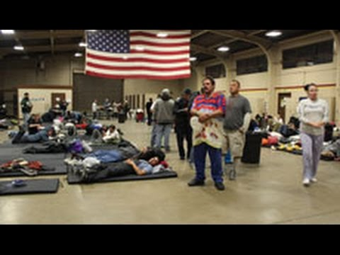 Armory Provides Respite For Orange County's Homeless In Cold Weather