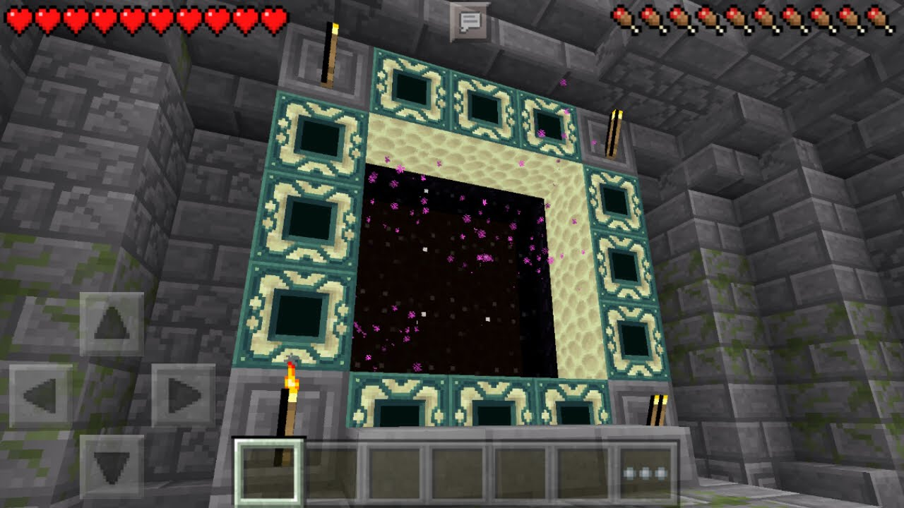 Working End Portal In MCPE The End Stronghold Map Minecraft PE - Mapas para minecraft pe 0 15 x