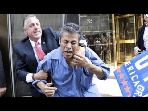Donald Trump Security Guard Punches Mexican Immigrant in Video