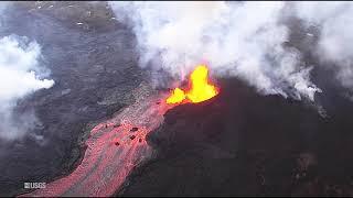 Hawaii Kilauea Volcano Eruption Lava Tube Formation LATT #4