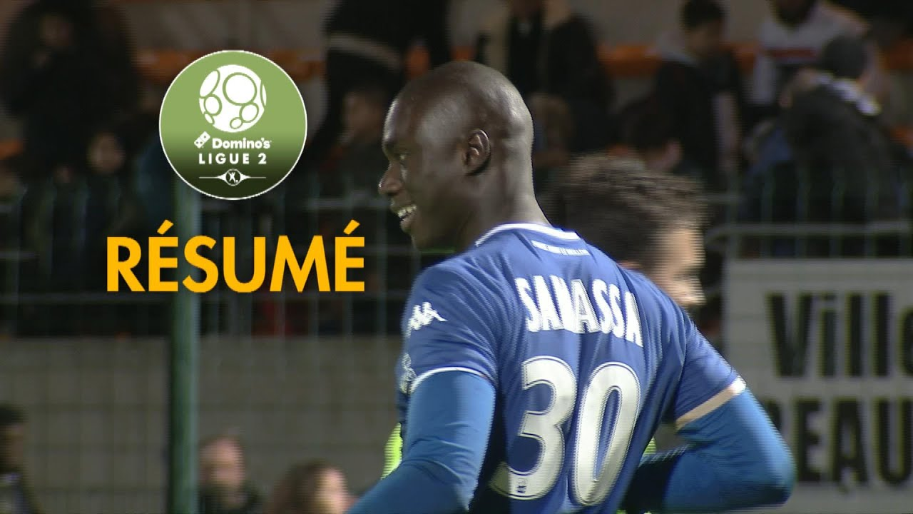 red star fc - estac troyes   0-3   - r u00e9sum u00e9 -  red