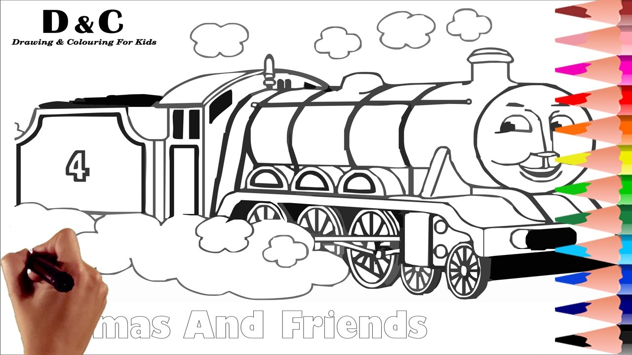 coloring pages thomas u0026 friends how to draw u0026 color learning