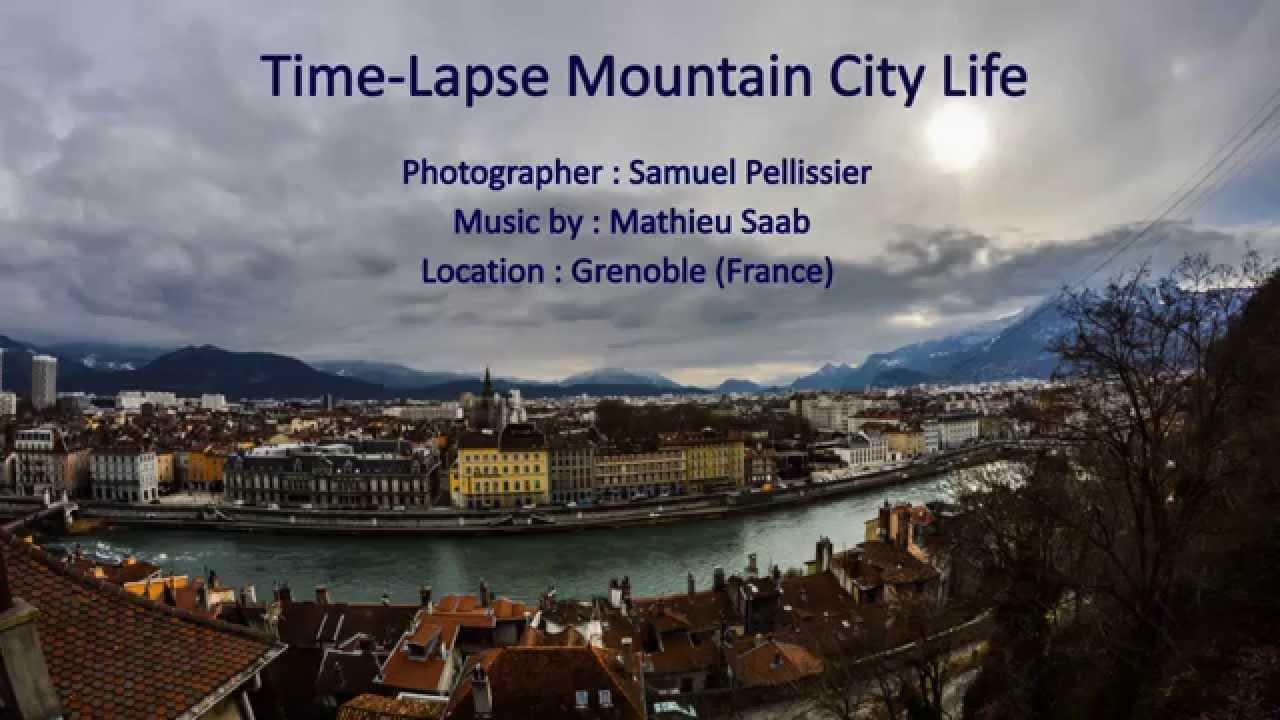 time lapse mountain city life grenoble france fort de la bastille youtube. Black Bedroom Furniture Sets. Home Design Ideas