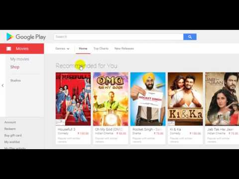 How to rent, buy and watch movies in Google play store