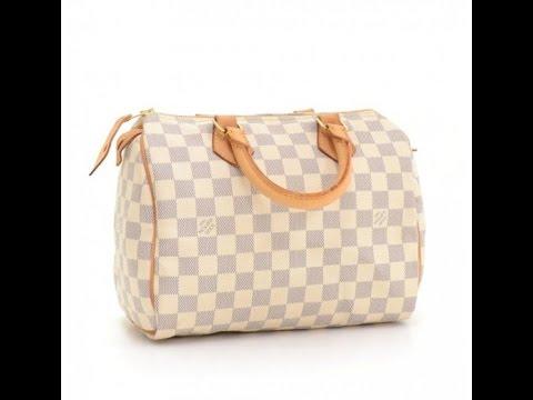 67260777b9fc LV Speedy 25 Damier Azur bag review - YouTube