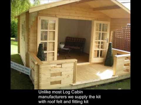 How to build a log cabin or summerhouse in your garden Build a house online free