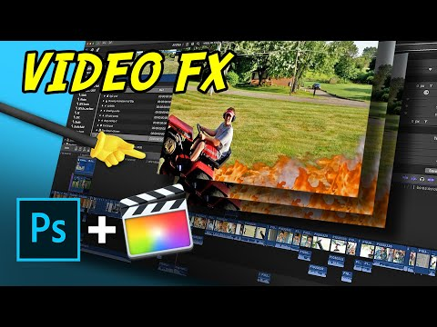 FCPX Video FX With Photoshop Files - (Editing Tricks)