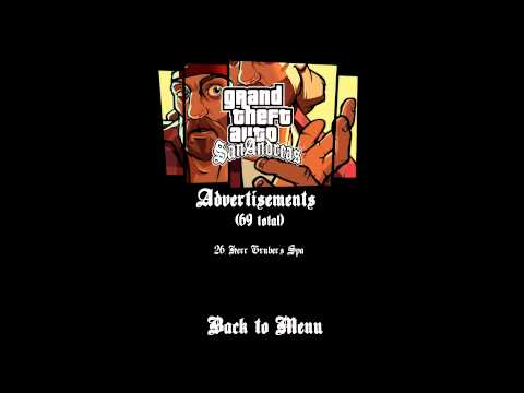 GTA:SA - ALL Radio Commercials (Interactive)