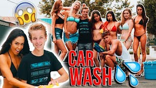 SUPERMODELS WASH MY CAR WITH LITTLE BROTHER INSIDE! *GONE SEXUAL*