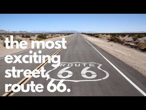 Excitement on the Main Street of America: Route 66.