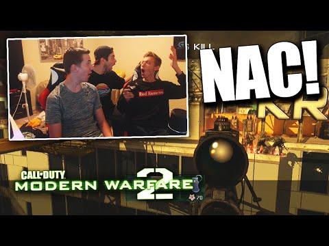 RED LEADER TRIES TO HIT A NAC.... - MW2 Nac Trickshotting