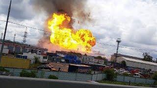Пожар на ТЭЦ 27 в Мытищах