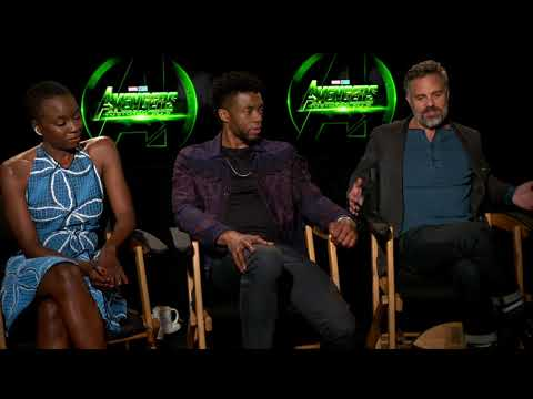 Avengers: Infinity War: Mark Ruffalo, Chadwick Boseman, Danai Gurira Official Movie Interview